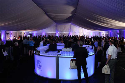 The view inside the tent at the 2017 GGCS Opening Reception at George Washington University