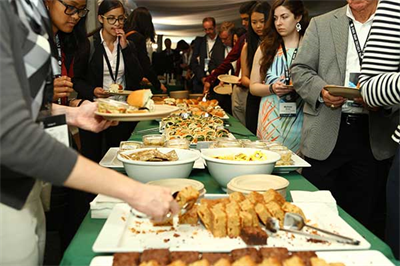 The meal spread at the GGCS 2017 Student Poster session
