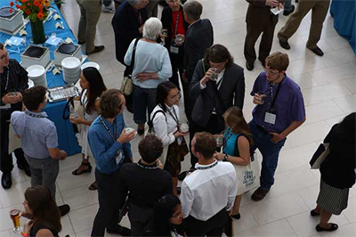 Attendees attend the GGCS 2017 reception at the United States Institute of Peace for refreshments and post-panel discussion